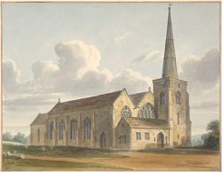 North-east view of St Martin's church, Salisbury
